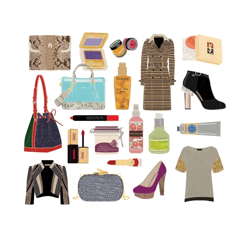 illustration for Elle Shopping 2012