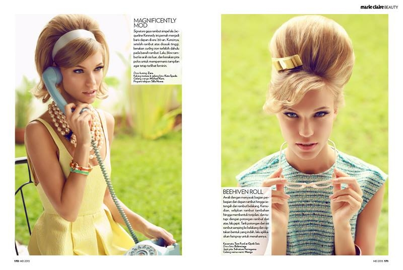 Beauty Editorial for Marie Claire