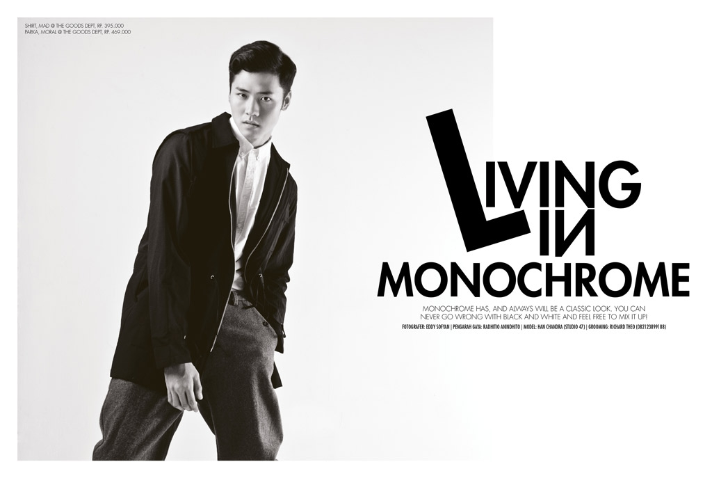 Living in Monochrome - Editorial Trax Magazine