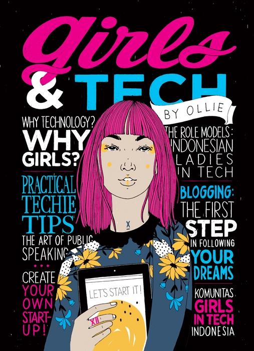 Girls & Tech (Book Cover) Author : Ollie, Publishing: Bentang Belia