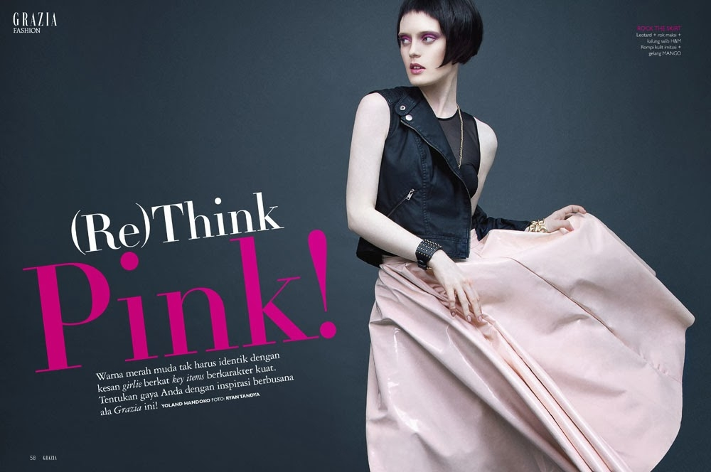 (Re) Think Pink! for GRAZIA Indonesia